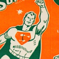 Producers Dairy Superman Orange Flavored Drink carton (1968)