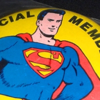 Superman Club member button (1966)