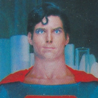 Movieland Wax Museum Superman postcard (1979)