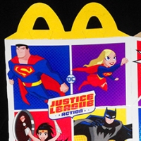McDonald's Happy Meal Justice League Action box (2018)